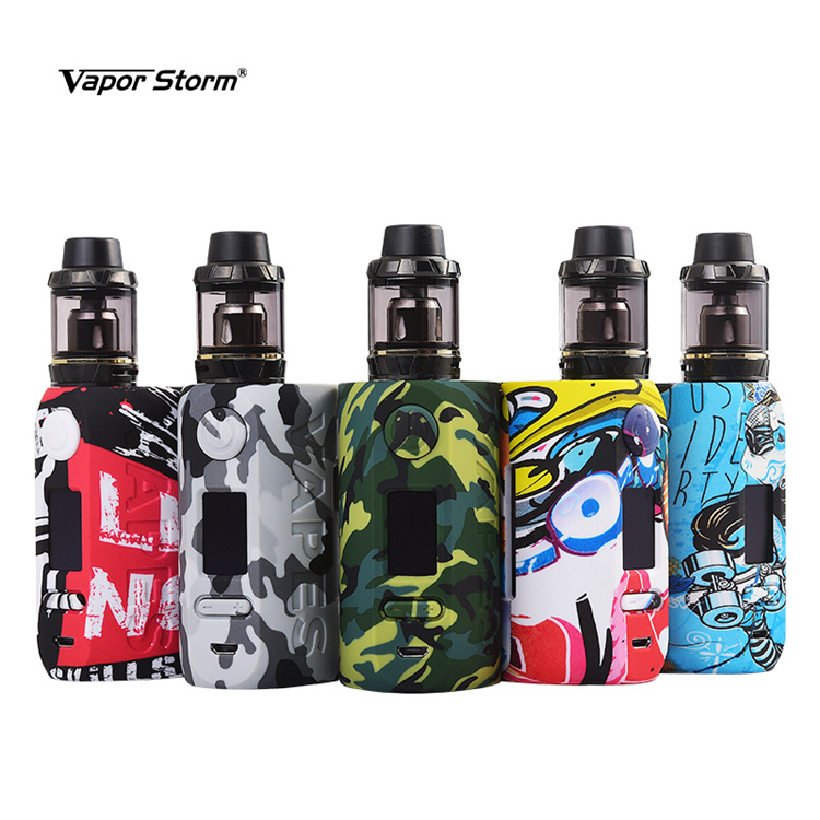 Vapor Storm 200W Mod Kit With Hawk Atomizer Storm230 Bypass Temperature Control Vape 18650 Box Mod new 90w vapor storm eco kit w 2ml vapor storm tank powered by 18650 battery max 90w output vape box mod vs vapor storm storm230