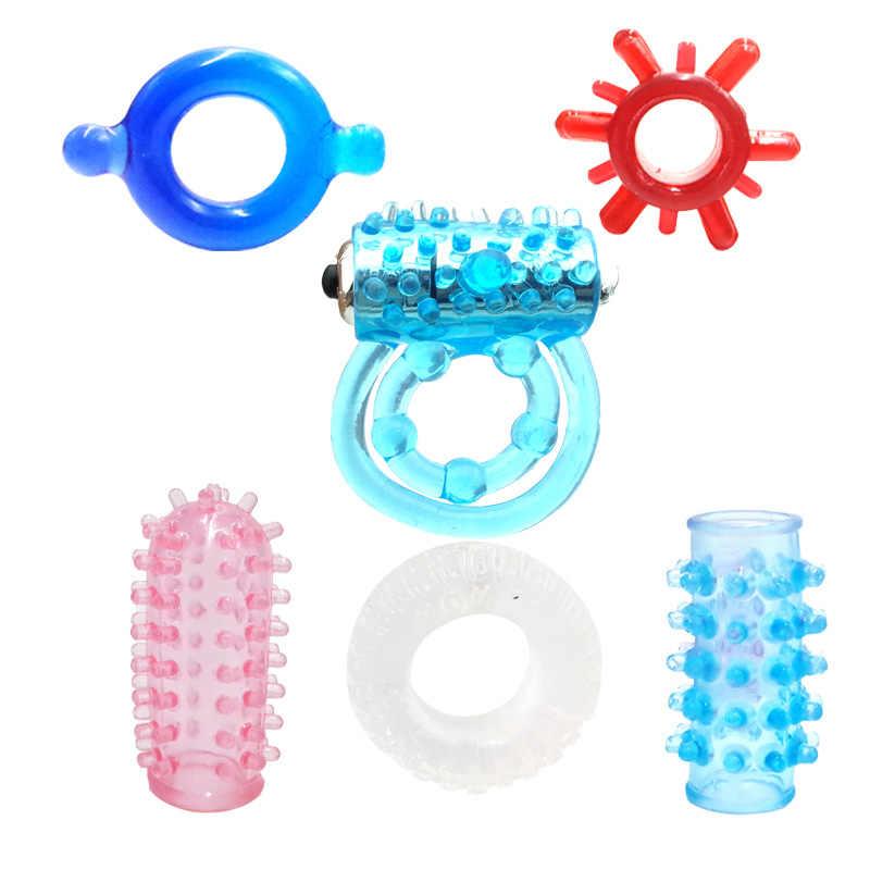 3 AG 13 Batterie Preservativi Pene Anello di Silicone Sottile Mini Massaggiatore Persistente Erezione Anello di Vibrazione Del Rubinetto Per Il Maschio Adulto Del Sesso giocattolo