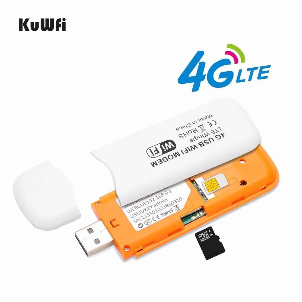 4G LTE Wifi routeur 3G/4G USB Modem et Wifi Dongle LTE WCDMA débloqué USB WiFi routeur poche réseau Hotspot avec fente pour carte SIM
