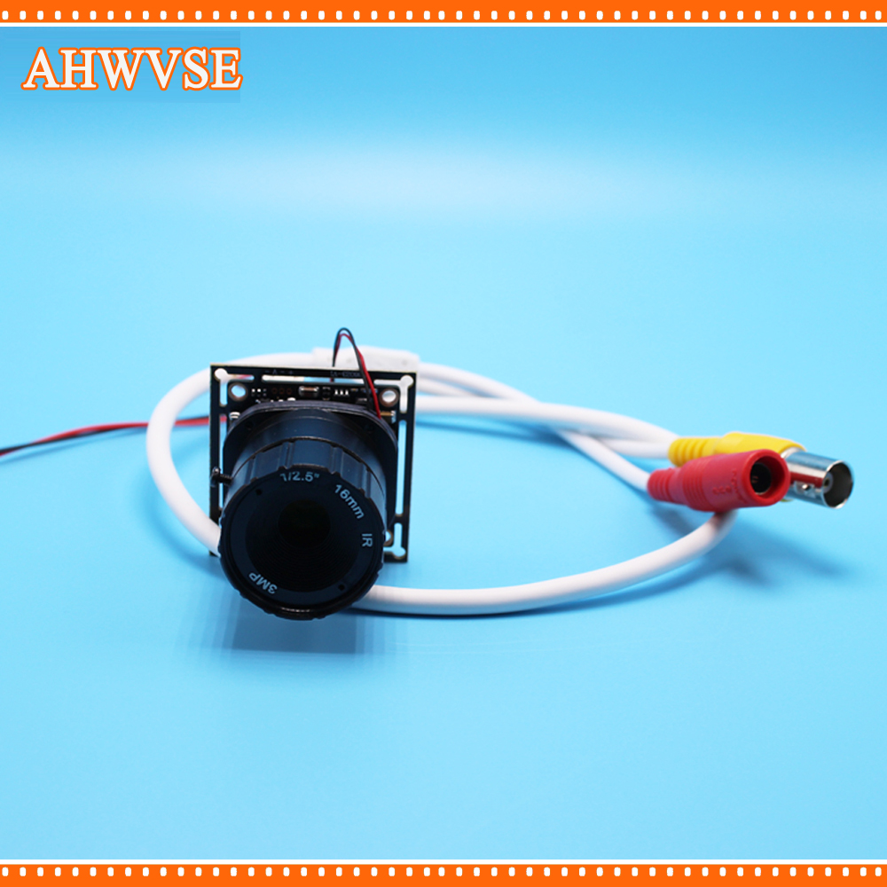 AHWVSE CMOS 1200TVL Mini CCTV Camera Module with BNC Cable and  CS Lens 4mm 6mm 8mm 12mm 16mm