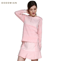 Women's Sleep Dress sets Spring Summer Cotton Round Neck Women Sleepwear With Sleep Shorts Solid Lady Nightgown Home Clothes