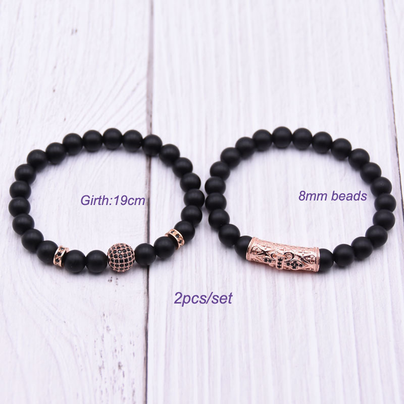 Couple Round Ball Bracelet Beads Bracelet Jewelry Men Pulseira Masculina Feminina Bileklik Pulseras Mujer Moda 2018 Punk Friends