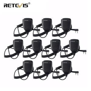 Image 1 - 10 pièces talkie walkie haut parleur Microphone côté PTT pour Kenwood rechapé RT21 RT22 H777 RT81 Baofeng UV5R 888S pour Puxing pour HYT TYT