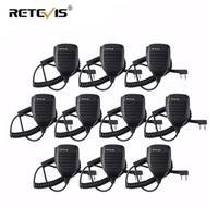 מכשיר הקשר 10pcs מכשיר הקשר רמקול מיקרופון סייד PTT לקבלת Kenwood Retevis RT21 RT22 H777 RT81 Baofeng UV5R 888S עבור PUXING עבור HYT TYT (1)