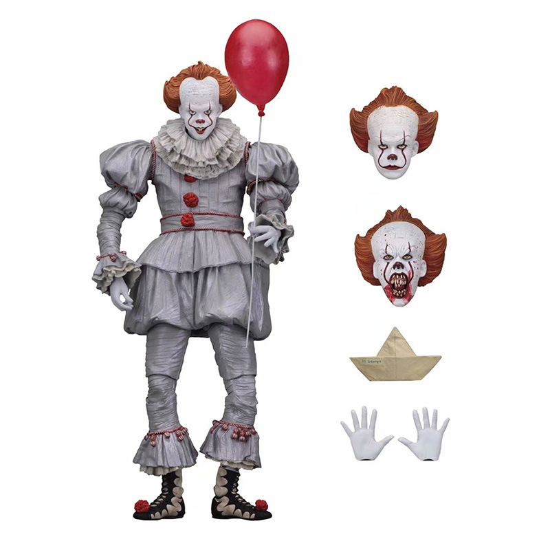 [Funny] 20cm NECA Stephen King's It Pennywise Joker Clown Halloween Day Horror Movie Doll PVC Action Figure Collectible Model