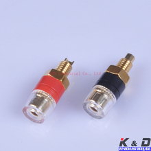 4pair Binding Post Speaker Cable Audio Amplifier Terminal Banana Plug Jack Gold 4pairs combine binding post speaker tube audio terminal banana plug jack amplifie hifi