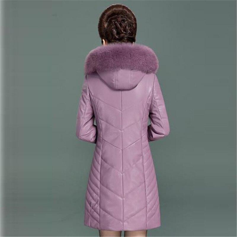 Et Femelle Des Épais Cuir âge Femmes De Nouveau Gamme Veste Vêtements Plus La Survêtement Chaud Coton Moyen Long Haut 4 Taille 3 1 2 En D'hiver HFaEFxnUwq