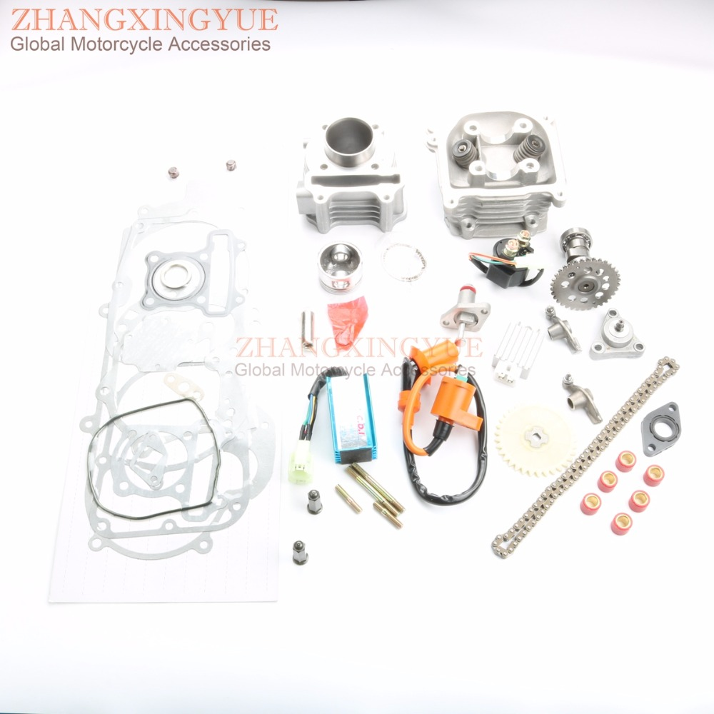 60cc Cylinder Kit & Cylinder Head Assembly & Cam & AC CDI & Tensioner & Oil  Pump for GY6 139QMB 50cc 44mm 4T-in Engine Cooling & Accessories from ...