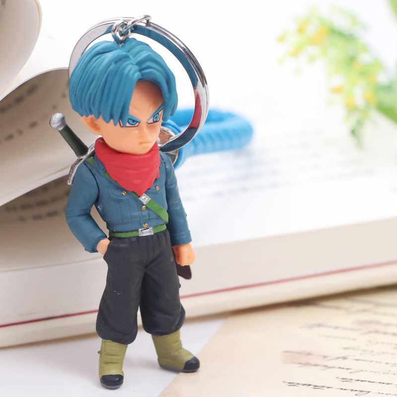 Figuras de Ação Anime Dragon Ball Goku Super Saiyan Vegetto Zamasu Preto Deus da Criação Mai Dragon Ball Z Figura keychain brinquedos