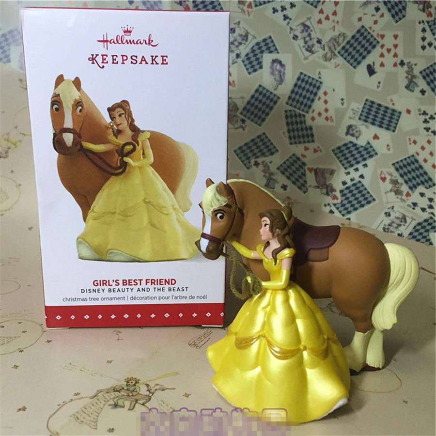 лучшая цена 1pcs original Beauty and Beast belle princess collection figure belle Decoration toys girl's best friend