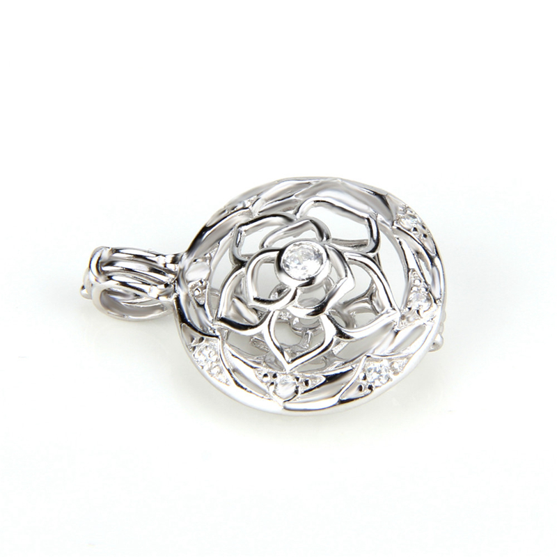 Image 4 - CLUCI 3pcs Flower Ball Shaped Silver 925 Pearl Locket Women 925 Sterling Silver Fine Jewelry Pendant for Necklace-in Pendants from Jewelry & Accessories