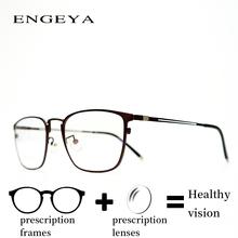 Metal Clear Men Prescription Eyewear Fashion Business Myopia hyperopia Resin Optics Glasses IP6029
