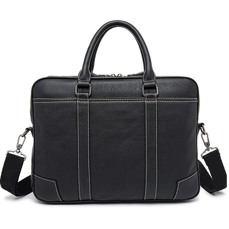 Brand Genuine Leather business briefcase laptop handbag men shoulder Messenger bag briefcase High capacity Crossbody travel
