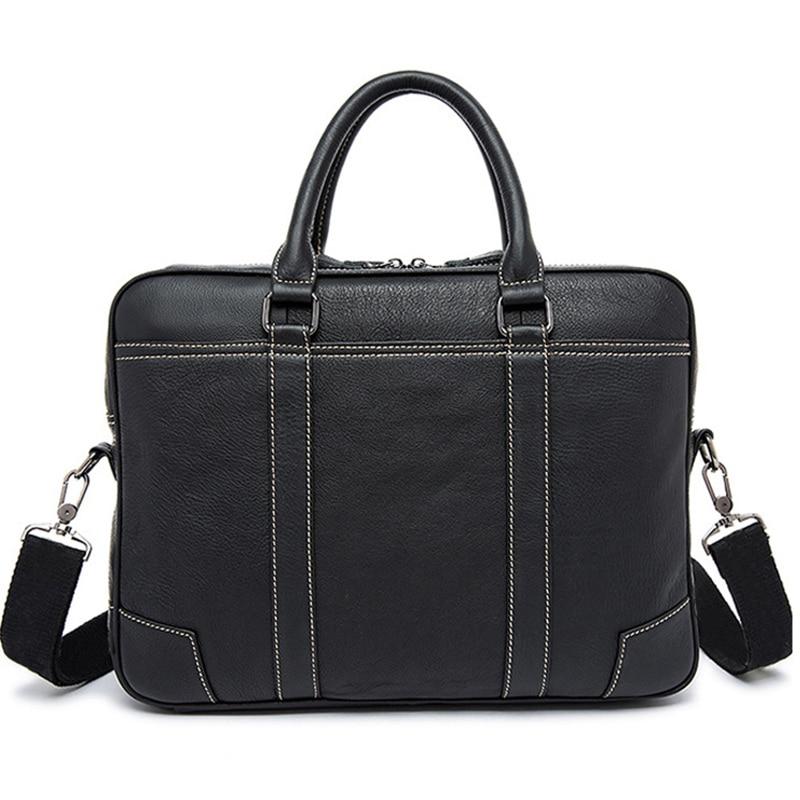 Merek asli bisnis kulit tas, Tas laptop, Pria bahu tas kurir, Tas Crossbody kapasitas tinggi