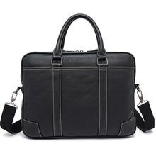 Brand Genuine Leather business briefcase laptop handbag men shoulder Messenger bag briefcase