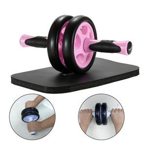 Double Abdomen Roller Fitness Core Rolling Wheel Abdominal Roller Workout Abdomen Trainer Wheel for Abdomen Back Arms Shoulders