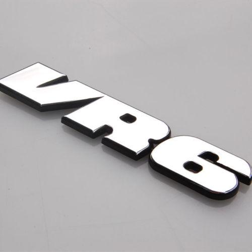 3D металл хром ленты VR6 объемом кузова задний багажник герба знак наклейка, пригодный для VW Jetta Гольф поло КЭДДИ проходе