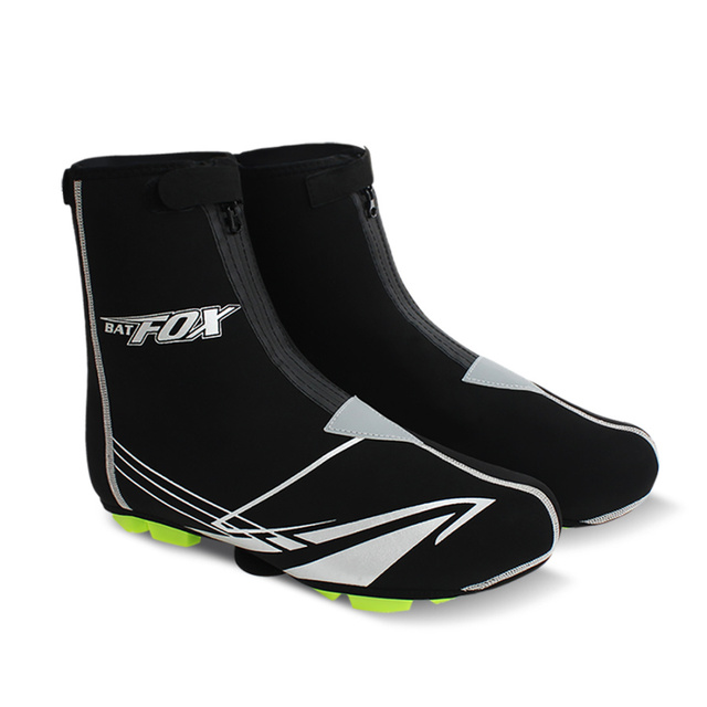 Batfox Cycling Shoe Cover Black Sbr Thermal Cycling Overshoe
