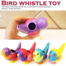 все цены на Coloured Drawing Water Bird Whistle Bathtime Musical Toy for Kid Early Learning Educational Children Gift Toy Musical Instrument онлайн