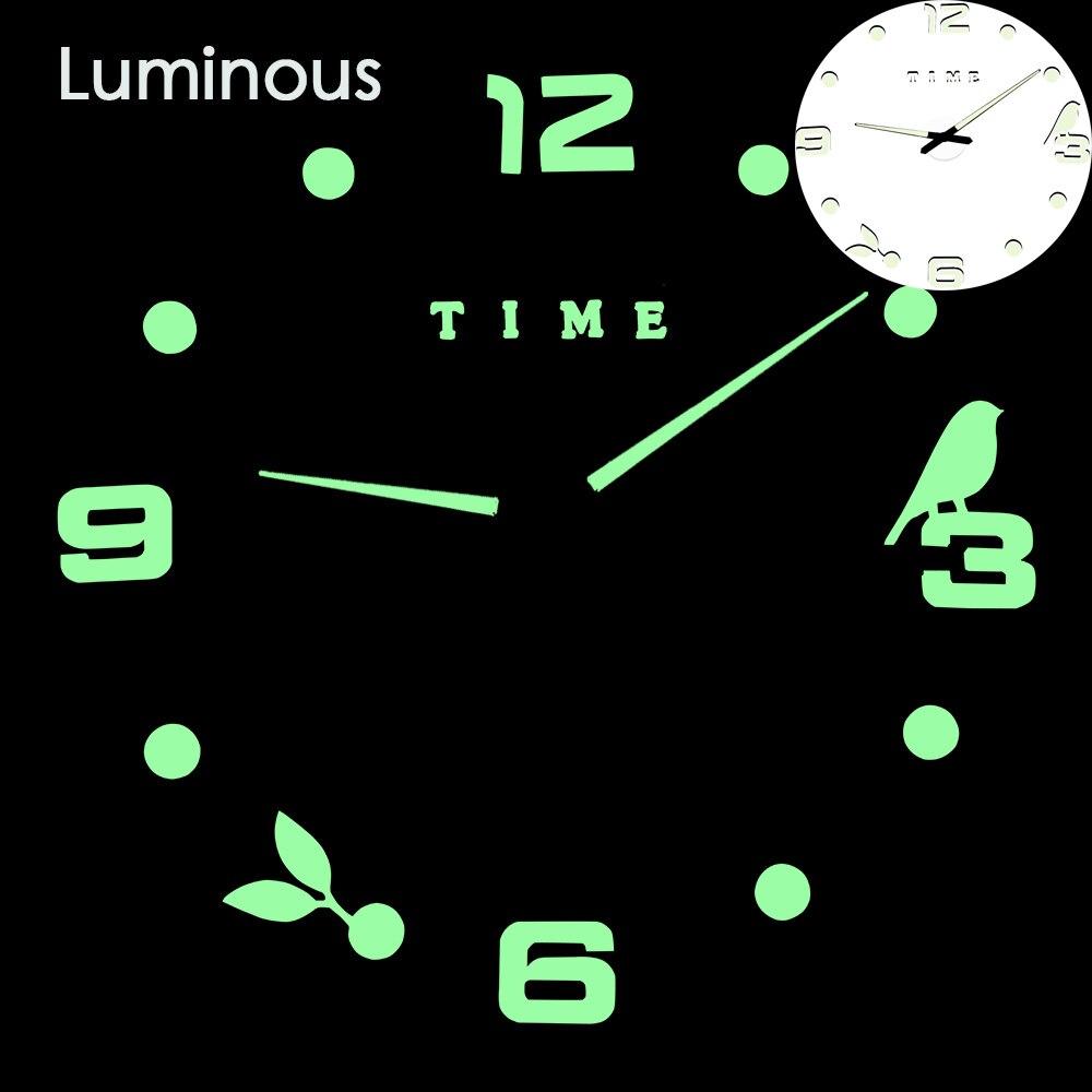 27 различных дизайнов светящиеся настенные часы современный дизайн настенные цифровые большие Big3D DIY модные Saat Reloj Horloge klok - Цвет: wall clock 13