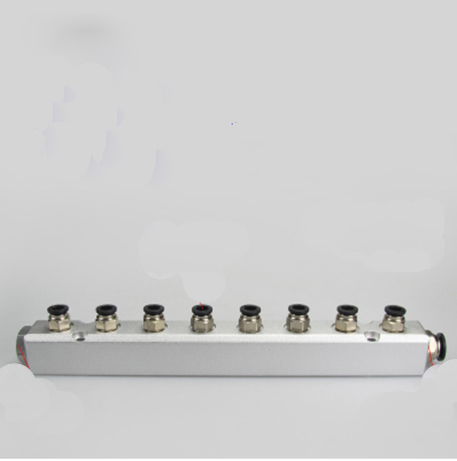 30x30mm G1/4 Out G1/2 In 8 Way Pneumatic Fitting Air Manifold Block Splitter расходомер barry 4 g1 2 2 8l min