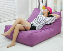 hot sale high quality swimming pool floating bean bag, purple 2 seat extra large beanbag chair
