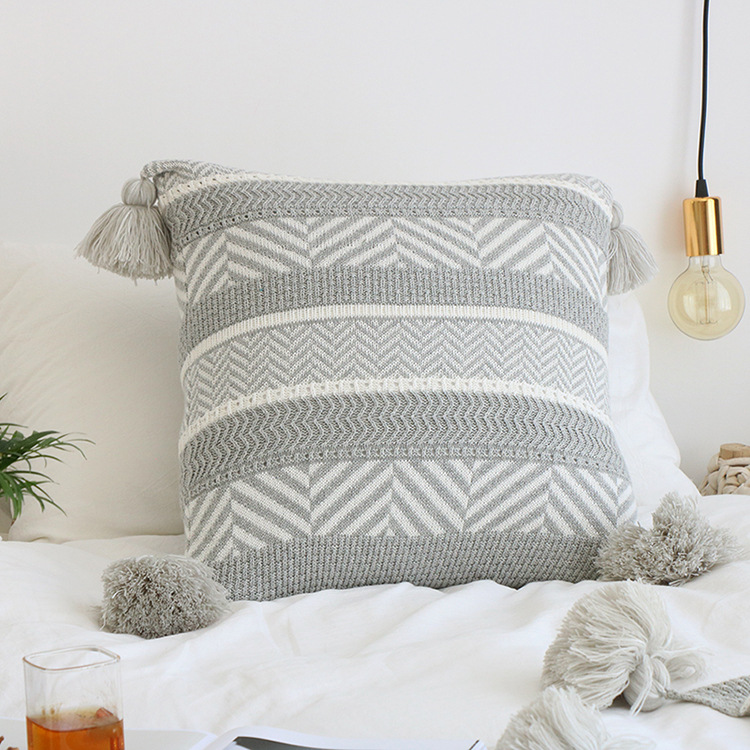 Knitting Pattern for Geometric Cushion