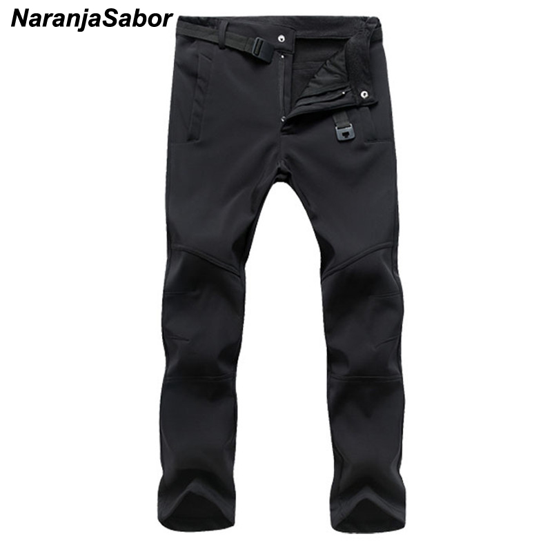 NaranjaSabor 2019 Autumn Men's Casual Pants Men Thick Trousers Add Fleece Male's Jogger Winter Warm Pants Men's Brand Clothing