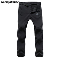 NaranjaSabor 2019 Autumn Men's Casual Pants Men Thick Trousers Add Fleece Male's Jogger Winter Warm Pants Men's Brand Clothing Casual Pants
