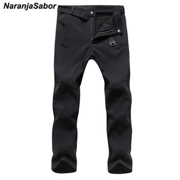 NaranjaSabor 2019 Autumn Men's Casual Pants Men Thick Trousers Add Fleece Male's Jogger Winter Warm Pants Men's Brand Clothing Casual Pants