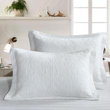 1Pc Fashion Solid Pillowcase Cover Cotton 51*66cm European Style Pillowcase High Quality Embroidered Home Pillow Covers slogan print pillowcase cover 1pc