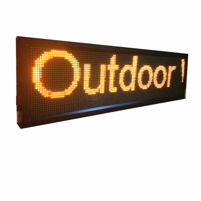 Outdoor Waterproof  P10mm Yellow LED Display Board LAN Programmable LED Sign Display Scrolling Store supermarket Message