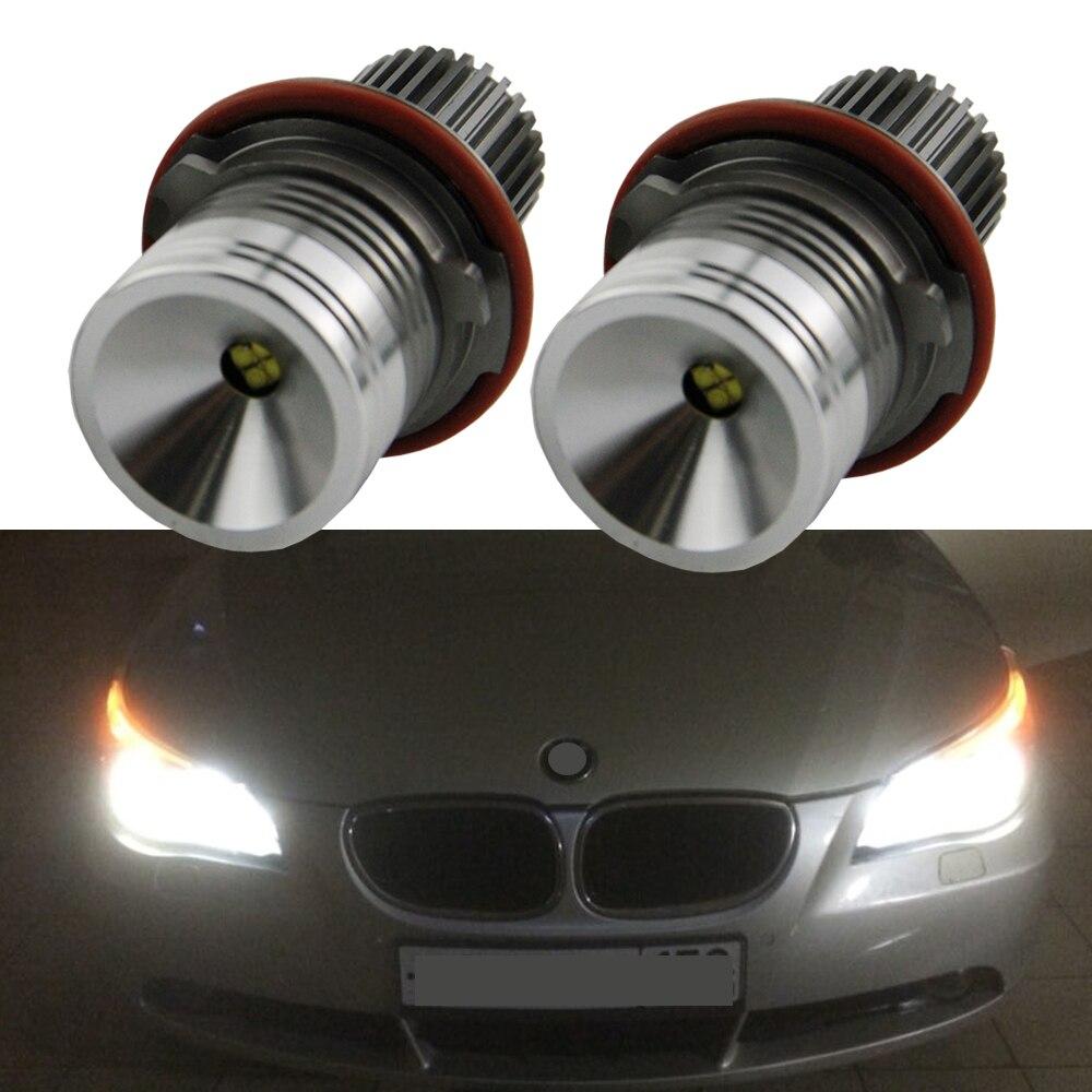 Aucune Erreur 40 W LED Ange Yeux Canbus indicateur LED Ampoules Pour BMW E39 E60 E61 E63 E83 X3 X5 E87 525i M5 525i E53 E66 Style De Voiture
