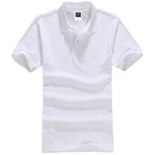 YUANHUIJIA Марка одежды Новый Мужской Рубашки Поло Мужчины Бизнес & Casual твердые мужские рубашки поло С Коротким Рукавом дышащий рубашки поло