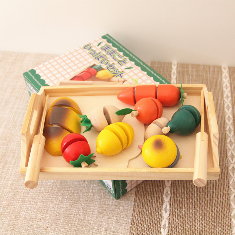 Baby Toys Simulation Bread/Hamburger/Fruit/Vegetable Cut Set Wooden Toys Kitchen Food Child Educational Birthday Gift