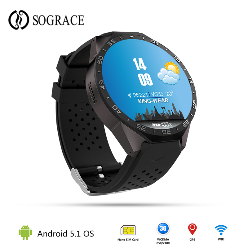 Original KW88 Smart Watches Android 5.1 Smart Watch 3G GPS 2MP Camera Watch Phone Smartwatch With Heart Rate Monitor MTK6580 jrgk kw99 3g smartwatch phone android 1 39 mtk6580 quad core heart rate monitor pedometer gps smart watch for mens pk kw88