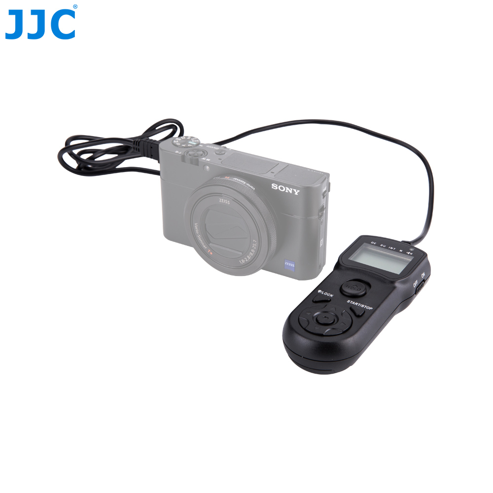 JJC Camera Wired Timer Remote Control Shutter Release Cord for Sony A58/A7/A7 II/A7R/A7R II/A7S/A7S II/RX100M5/RX100M4/A6500 wired camera remote control shutter release for iphone 4s 4 5 black white 3 5mm jack