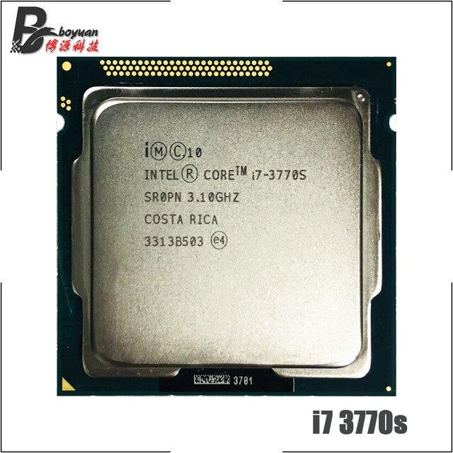 インテルコア i7 3770S i7 3770 S i7 3770 S 3.1 Ghz のクアッドコア 8 コア 65 ワットの CPU プロセッサ LGA 1155