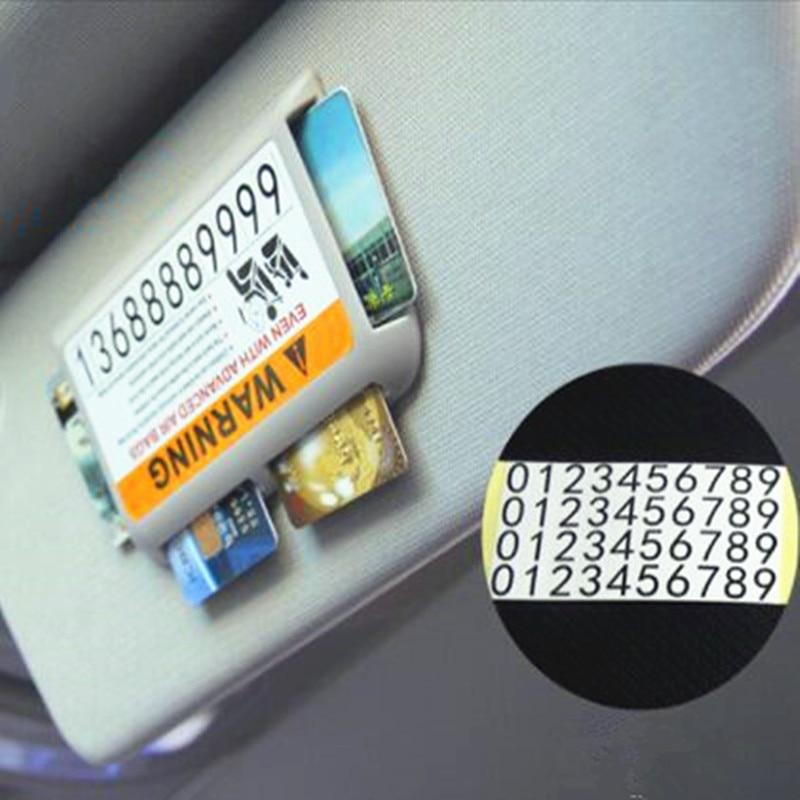 Car Stickes Visor Temporary Parking Phone Number For Renault Megane 2 3 Duster Logan Clio 4 3 Laguna 2 Sandero Scenic 2 Captur