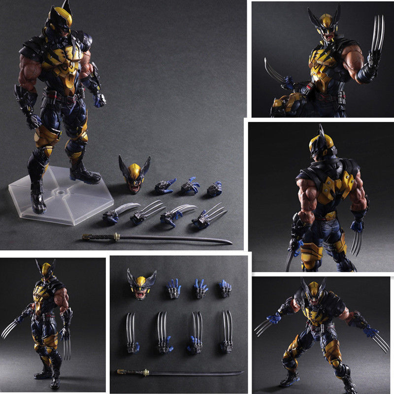 HOT Play Arts Kai Wolverine X-MEN PVC Action Figure Toy Model Statue 28cm Anime Figure Collectible Model Toy x men wolverine bust action figure logan resin statue wolverine collectible model toys bust toy doll gift