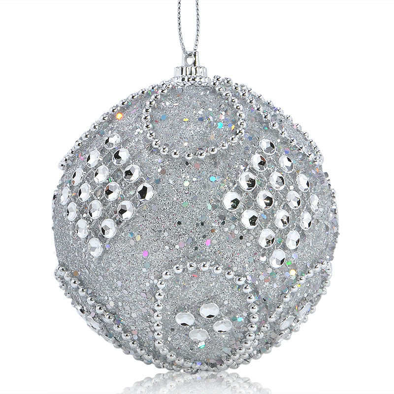 Christmas Rhinestone Glitter Baubles Balls Xmas Tree Ornaments christmas decorations enfeite de natal for home 2018 #2o26 (1)