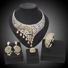 YULAILI 2017 New Coming American Natural Zircon Design High Quality Women Zircon Jewelry Sets