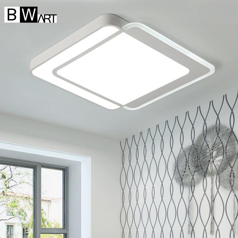 Bwart Moderne Rectangle mdwell Led plafonniers pour le salon chambre AC85-265V Blanc haute qualité Plafond Lampe Appareils