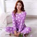 Pijama Para Mujer Ropa Tops Mujer Pijamas Conjuntos de Traje de Noche de los Pijamas ropa de Dormir homewear para mujer chándal para las mujeres