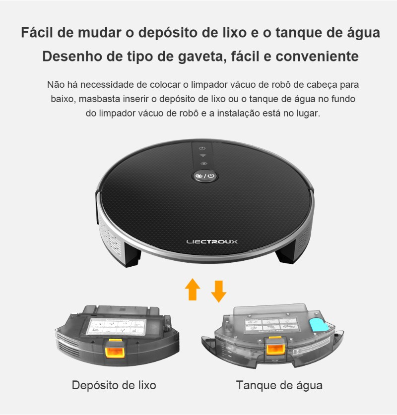 2019 Limpador Vácuo de Robô de LIECTROUX C30B