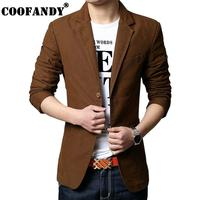 Pockets Solid Black Lapel Casual Long Slim Men Blazer Khaki Coffee Buttons Two Sleeve Button Jacket