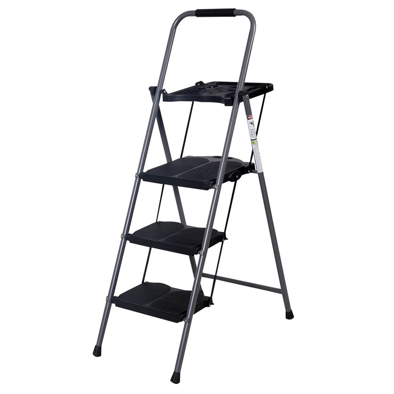 Brand Fine Designed HD 3 Step Ladder Platform Folding Stool 330 LBS Capacity Space Saving Anti-Skid Rubber Feet Step Ladder