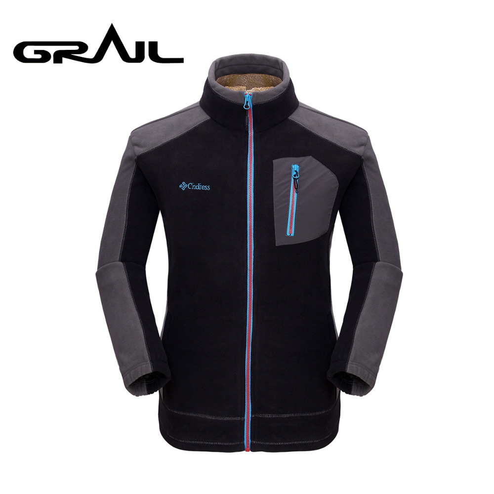 GRAIL Outdoor Sport Thermal Hiking Jacket Polarfleece MicroFleece Coat Ultra Warm Thick Parkas KD3501
