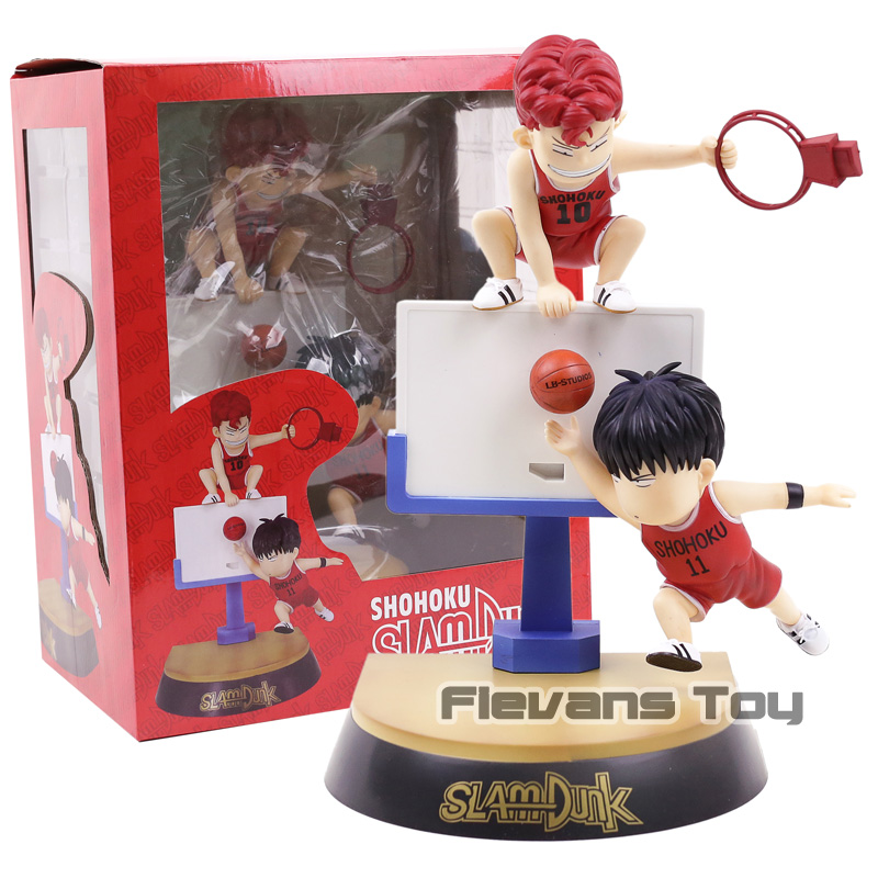 SLAM DUNK Rukawa Kaede & Hanamichi Sakuragi Q Version PVC Figure Collectible Model Toy цена