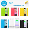 Power Case For IPhone 5 External USB Power Bank Charger Pack Backup Battery Case For IPhone5s